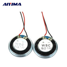 2Pcs Portable Mini Tweeter Audio Speakers Woofer Iron Shell Magnetic Trump 8 Ohm 1 W