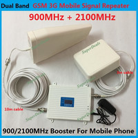Newest 2100MHz 3G booster 900Mhz 2G GSM repeater Dual Band Mobile Phone Signal Booster Cellular Signal Repeater Amplifier