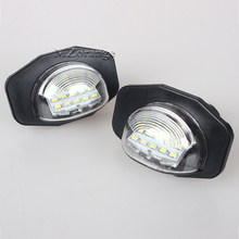 MZORANGE 2Pcs Error Free 12V Xenon White 18SMD LED Number License Plate Light for TOYOTA Corolla Alphard Sienna Auris Wish Urban