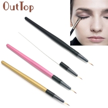 makeup brushes Hot!1PC wooden handle Eyeliner Brush Makeup Brush Eye Cosmetic Makeup Tool ar12dropship