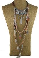 Цыганские украшения Винтаж длинное ожерелье Этнические украшения в стиле бохо Ожерелье Племенной воротник тибетские украшения
