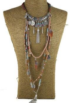 c26a4c35d2b9 Collar largo Vintage declaración gitana joyería étnica boho collar tribal  joyería Tíbet