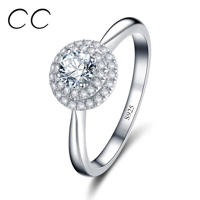 Luxury Wedding Rings For Women White Gold Plated Engagement Cheap Rings For Woman Bague Femme