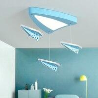 LICAN современный самолет потолочные светильники Светодиодный светильник для мальчиков и девочек спальня детей мультфильм потолочный свети