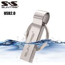Suntrsi Metal USB Flash Drive 32gb for computer Pendrive 64gb 16gb usb stick Metal Key Chain Pen Drive 8gb High Speed Waterproof(China)