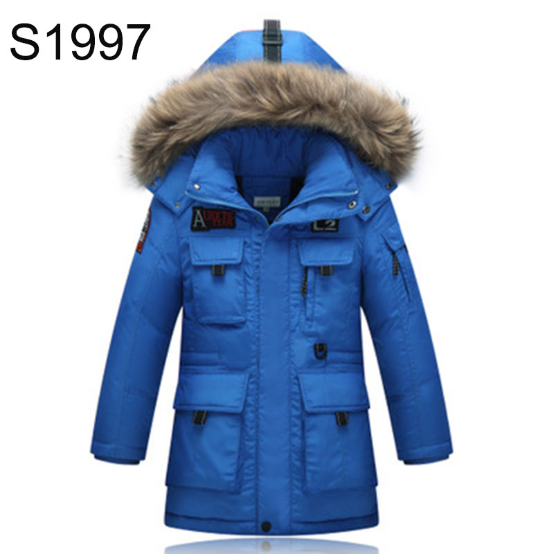 2017 Teenagers White Duck Down Coat Fashion Long Boys Girls Winter Warm Coat and Jacket Thickening Warm Big Boy Outerwear Parkas russia winter boys girls down jacket boy girl warm thick duck down
