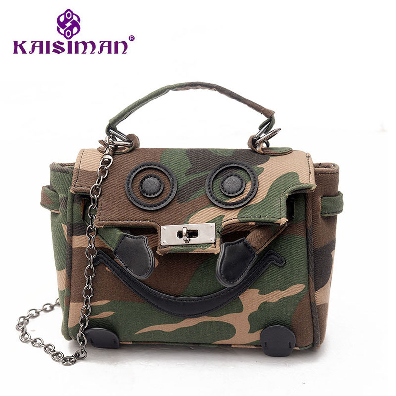 2017 New Handbag Leisure Canvas Camouflage Bag Lock Chain Diagonal Packet Large Capacity Crossbody Camouflage Bag Brand Designer free shipping 2014 boom bag leisure contracted one shoulder bag chain canvas bag