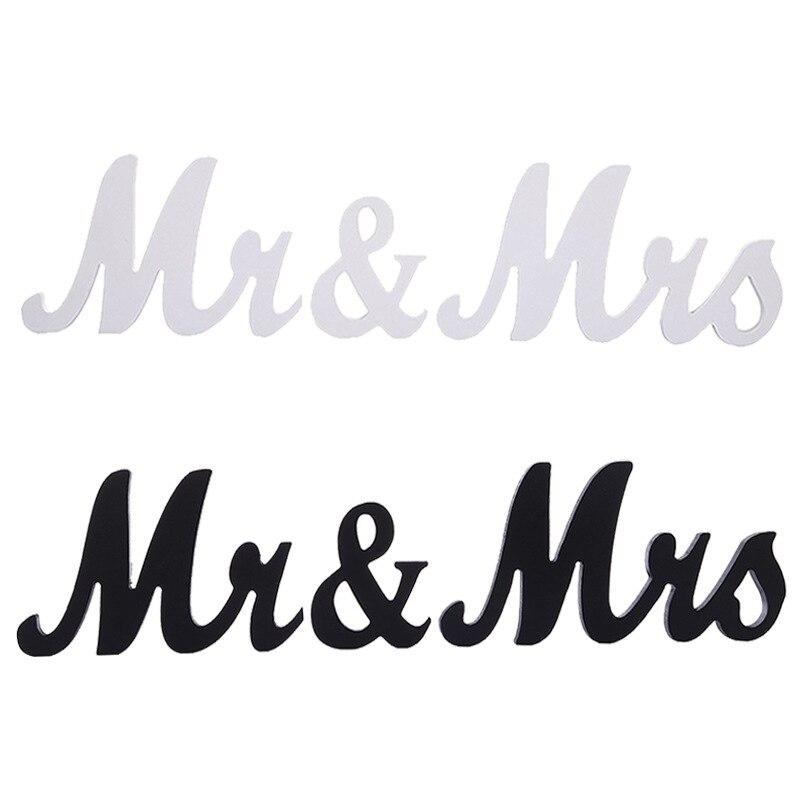 Large MDF Mrs Mr Decorative Letter Wooden Letters Block Indoor Wedding Decoration Crafts