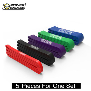Image 1 - POWER GUIDANCE 5PCS/Set Assisted Pull Up Bands Resistance Mobility Band Loop For Body legs arms Stretching yoga with free bag
