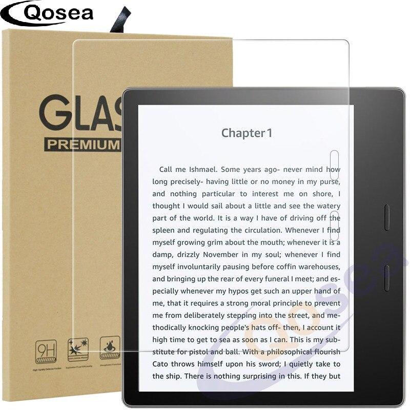 Qosea 2017 Nouveau Pour Kindle Oasis En Verre Trempé 9 H Film De Protection Ultra Clear Explosion-preuve Pour Kindle Oasis écran Protecteur