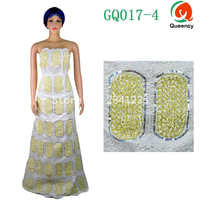 Hot Sale Raw Silk George 5yards Pc Sequins George Fabric African George Wrapper 2colors Women Dress
