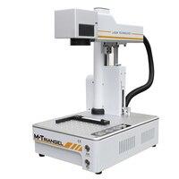 Mg uns 20 w máquina de gravura da marcação do metal do laser da fibra lcd vidro traseiro separador para o iphone 8 8 p x xr xs max