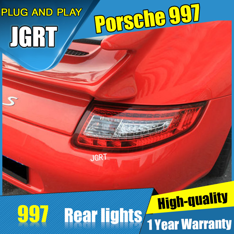 2PCS Car Styling for Porsche 997 Taillights 2005-2009 for 997 LED Tail Lamp+Turn Signal+Brake+Reverse LED light