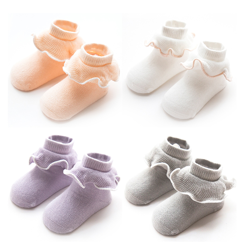 1 Pair Spring Autumn Baby Soft Cotton Rabbit Thickening Terry Tube Socks Newborn Toddler Non-slip Children