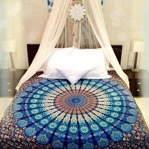 Image 2 - Manta tapiz de mándala Bohemia estampada, tapices para colgar en la pared, decoración India Biki para el hogar, Sábana, funda de sofá, Blanket148x200cm