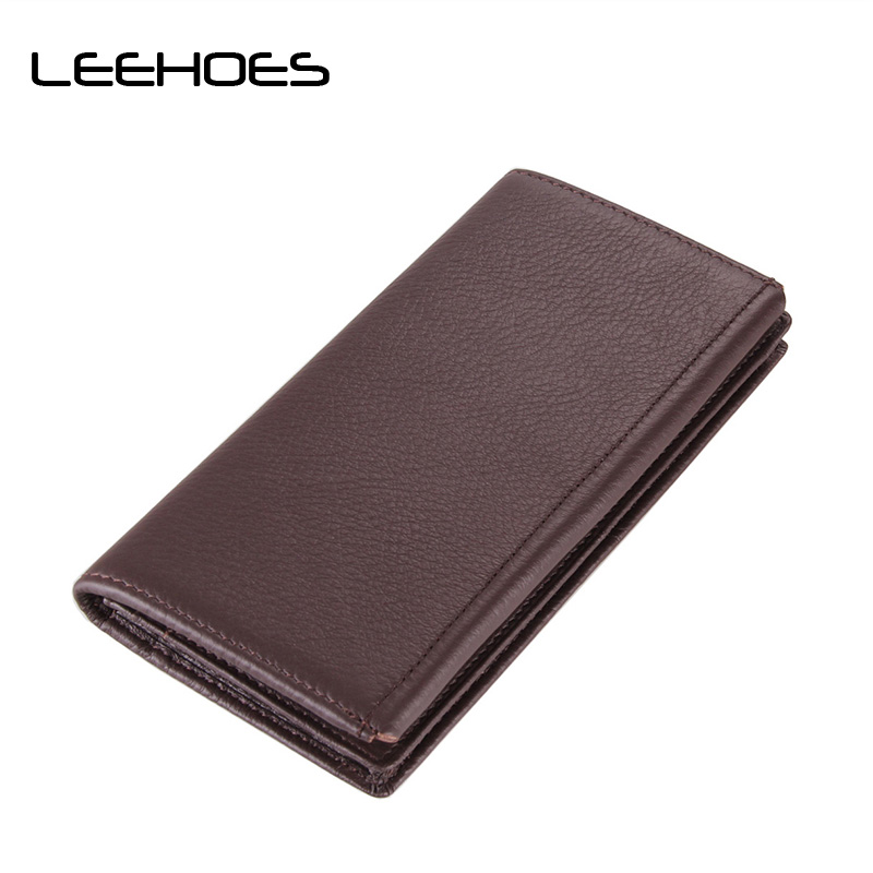 Men Wallets Genuine Leather Purse Business Male Wallet High Capacity Multi-Card Bit Long Wallet Credit Card Holder Coin Purse