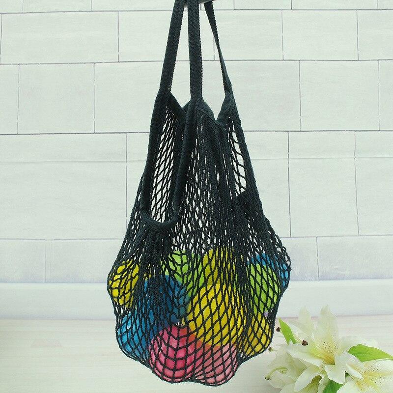 New Solid Reusable Mesh Net String Shopping Bag Shopper Tote  Grocery Woven Cotton HandBag Totes