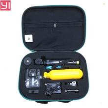 ¡ Nuevo! xiaomi yi 2 4 k accesorios de la cámara de acción conjunto con la caja de la cámara autofoto palo cubierta impermeable recargable cargador de batería