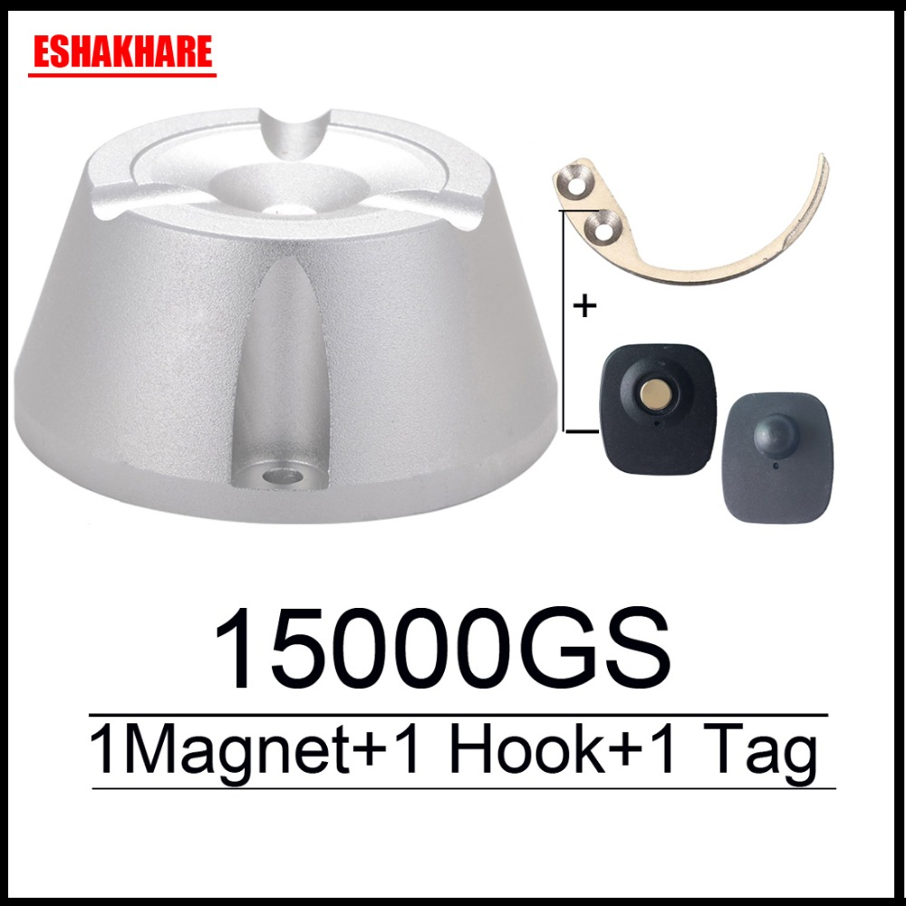 Cloth Security Tag Remover Universal  Magnetic Detacher 15000GS & 1 Key Hook Detacher For Super Sensor Tag Eas System