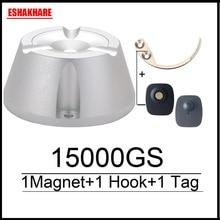 Cloth security tag remover universal  magnetic detacher 15000GS & 1 key hook detacher for super sensor tag eas system