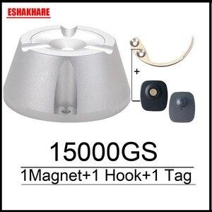 Image 1 - Cloth security tag remover universal  magnetic detacher 15000GS & 1 key hook detacher super eas detacher for RF8.2Mhz eas system