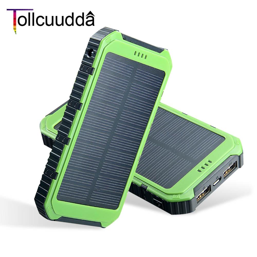 bilder für Tollcuudda 8000 mAh Energienbank Tragbares Ladegerät Poverbank Externe Batterie Kleine Solar-ladegerät Powerbank Für iPhone 6 s Samsung