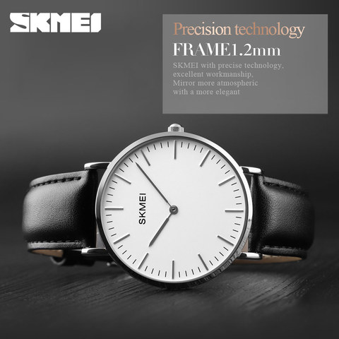 New SKMEI Fashion Watches Women Couple Watches Ultra thin Quartz Watch Elegant Dress Ladies Watch Women Wristwatch Montre Femme Karachi
