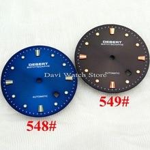 Deber 34 мм кофейный/синий циферблат для часов Miyota 8205/8215, Mingzhu DG2813/3804