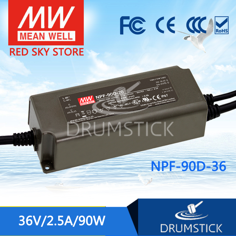 Advantages MEAN WELL NPF-90D-36 36V 2.5A meanwell NPF-90D 36V 90W Single Output LED Switching Power Supply shivaki shrf 90d