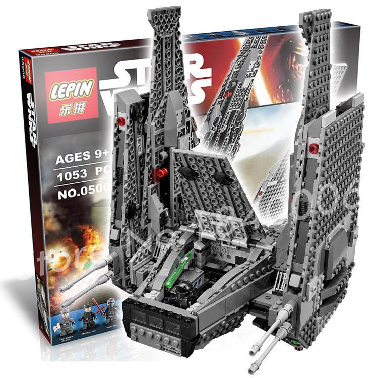 1053pcs 2016 Bela 05006 font b New b font Star Wars Kylo Rens Command Shuttle Building