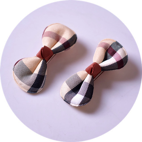 Kawaii Plaid Bowknot Hair Clips Girls Kids Hairpin Hair Bows Clip Barrette Accessories For Children Hairclip Headdress Headwear cheap 1pcs women headwear scissors comb hair clip hair accessories headpiece hairpin headwear gold silver color drop shipping