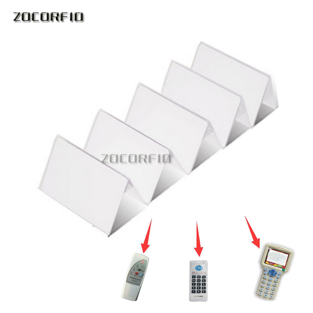 100pcs Dual Frequency Rewritable Cards 13.56MHz UID + 125KHZ T5577 RFID Card Rewrite 0 Block Clone Duplicate Copiable