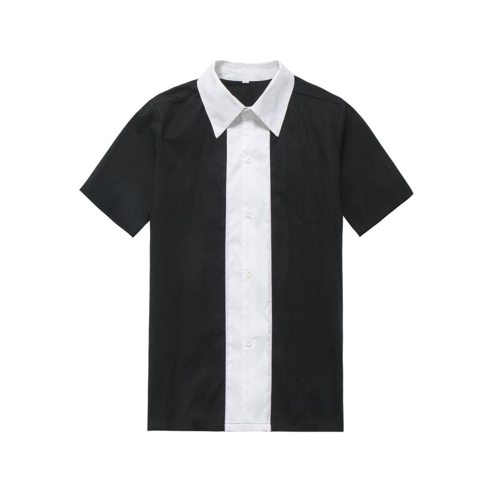 508177c3c1b9 Wholesale Clothing Rockabilly Men Clothing Black White Color Vintage Shirt  Man s Retro Inspired 60 s Work Clothes