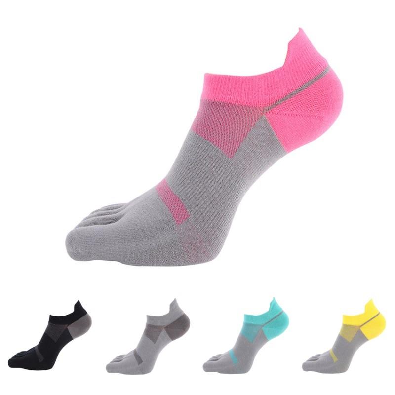 Outdoor Sports Socks Five Finger Toe Separate Breathable Shockproof Socks Running Bicycling Ankle Socks Women Yoga