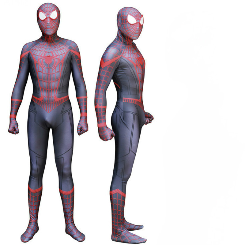 miles morales spiderman halloween costumes for men adult children amazing iron original homecoming spider man cosplay spandex