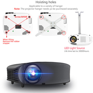 Image 2 - AAO YG600 HD Projector 4000 Lumens LCD Beamer Support Full HD 1080P Home Theatre HDMI VGA USB Video 3D Portable GMK1 Projector