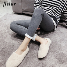 Jielur Side-striped Leggings Women Solid Color Casual Basic High Quality Warm Winter Skinny Black Leginsy Damskie 2019