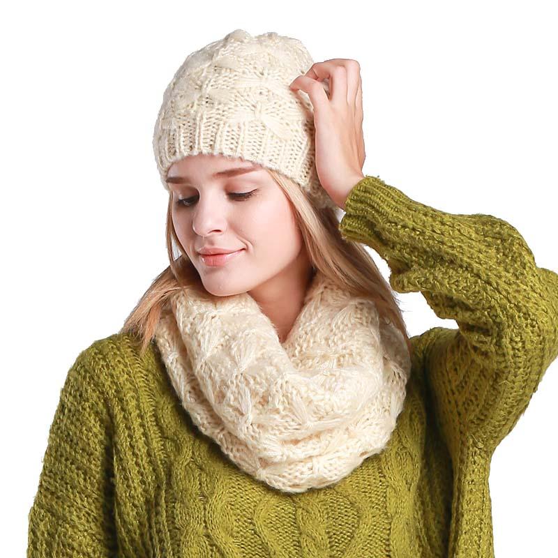 2019 nuevo sombrero y bufanda para mujer de moda de invierno de lana de  punto sombrero de invierno y bufanda de las mujeres gorros para damas en  Bufanda f2d4af43a9a