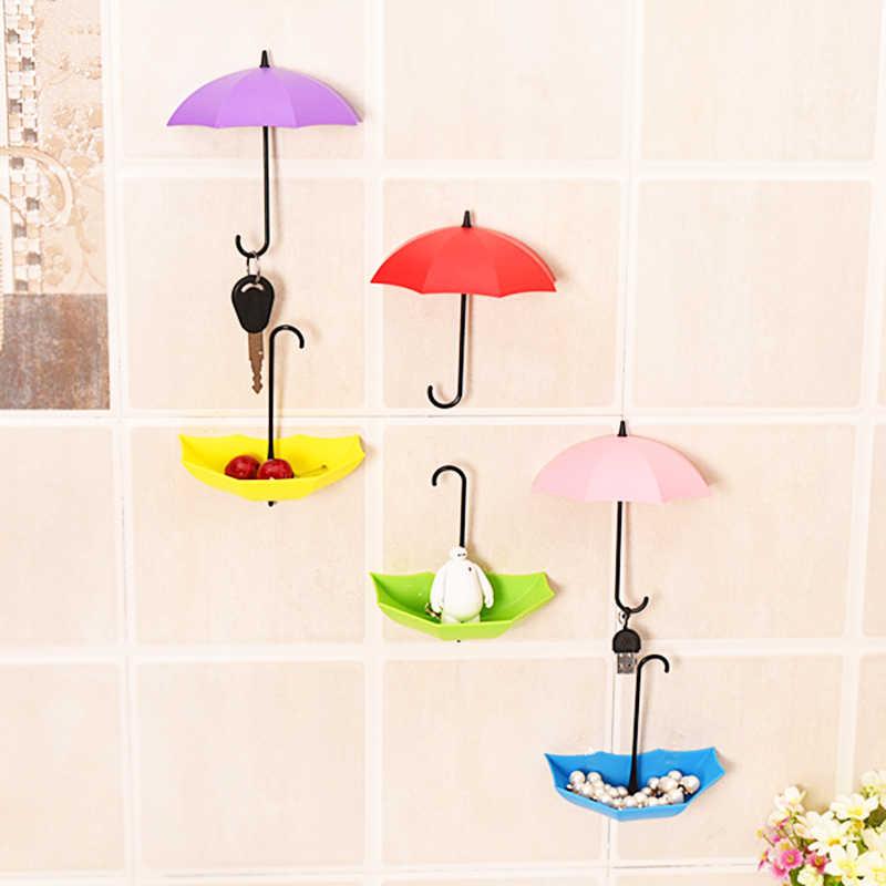 1 個傘スタイル吸盤フック強力な吸引カップ吸盤自己粘着ドア壁フックハンガーキッチン浴室ランダム色