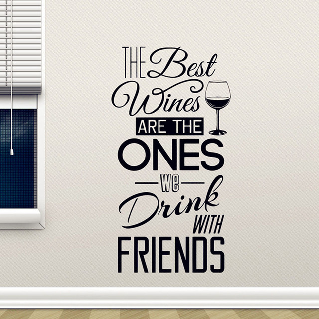 Wall Decal The Best WinesWith Friends Vinyl Sticker Dining