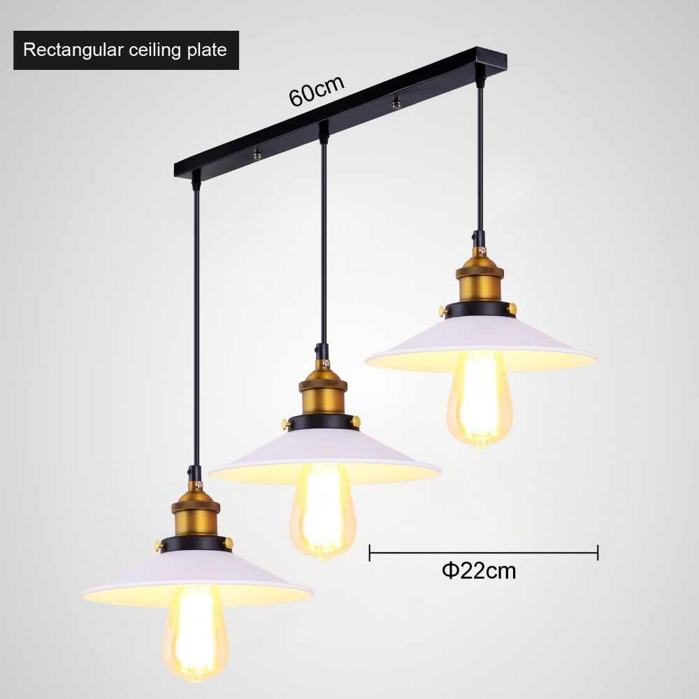 Лофт американский Винтаж подвесные светильники медный ламповый патрон E27 110/220 V Античная Подвесная лампа для домашнего декора ресторан освещение