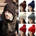 Hombres Unisex Caliente del Invierno de Punto Sombrero de Gran Tamaño Slouch Bobble Pom Beanie Cap Sombreros HATBD0015