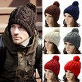 Unisex Men Winter Warm Knitted Hat Oversized Slouch Bobble Pom Beanie Cap Hats HATBD0015
