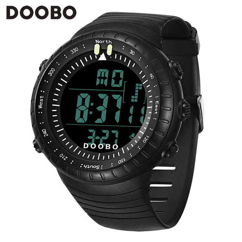 2016 New DOOBO Luxury Brand Men LED Digital Military Watches Fashion Sports Watch Dive Swim Waterproof