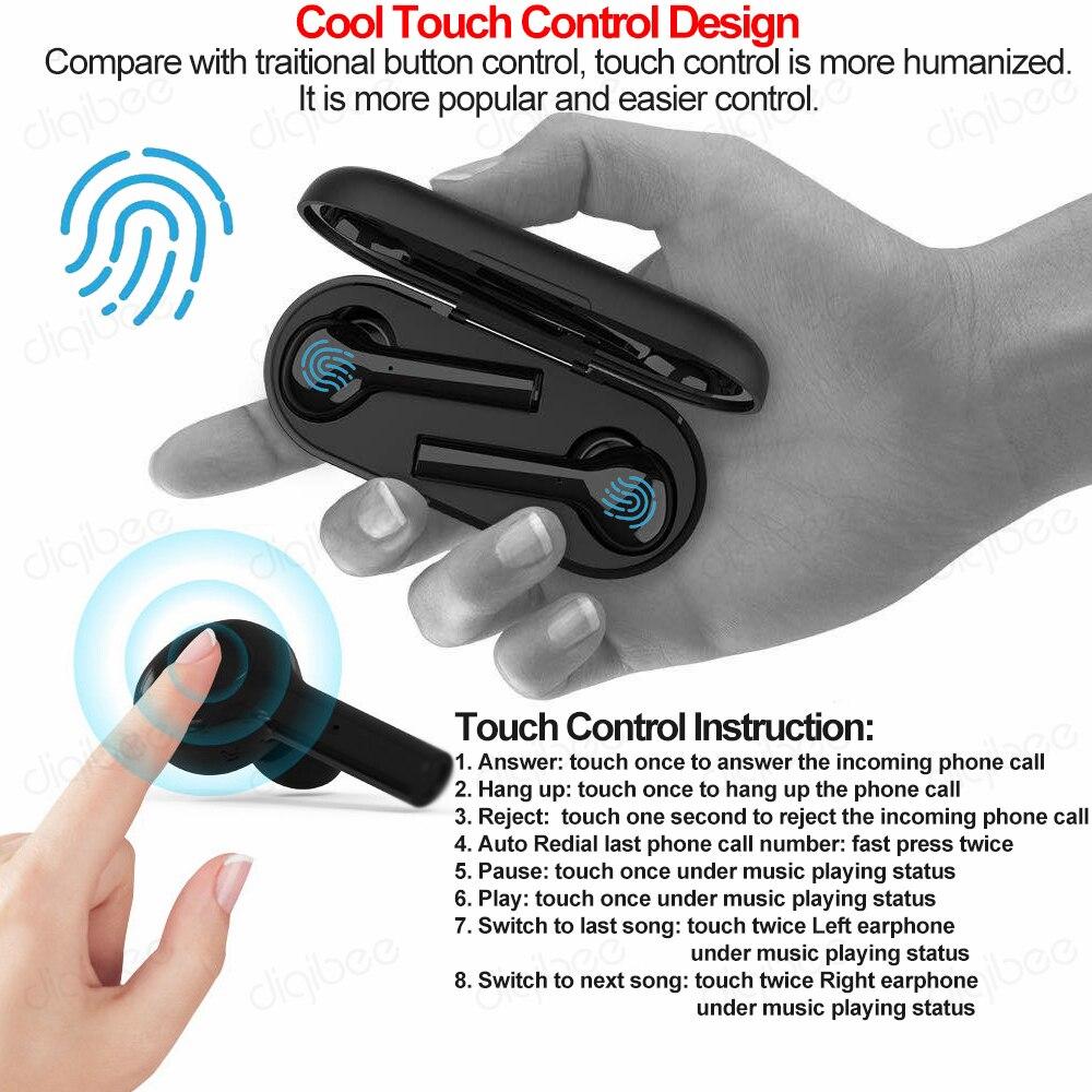 TWS Bluetooth 5.0 casque contrôle tactile Mini sport gratuit vrai sans fil HiFi stéréo écouteur voiture écouteurs pour iPhone Huawei Xiaomi