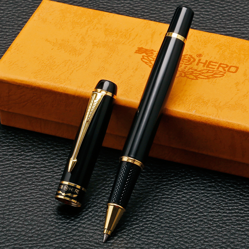 Luxury Gold Arrow Clip Rollerball Pen High Quality 0.5mm Black Ink Refill Smooth Writing Office Pens with Gift Box цены