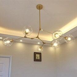 Винтажный волшебный подвесной светильник, стильный шар, промышленный Лофт, железный подвесной светильник, Черное золото, дерево, классичес...
