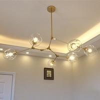 Vintage Magic Hanging Light Stylish Sphere Ball Industrial LOFT Iron Droplight Black Gold Tree Classic Modern