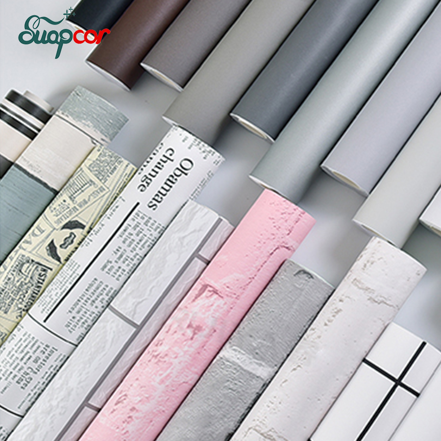 Thick Self adhesive Matte Wall paper Sticker Bedroom Dormitory Kitchen Waterproof Oil proof Furniture Cabinet Renovation Sticker Wall Stickers    - title=