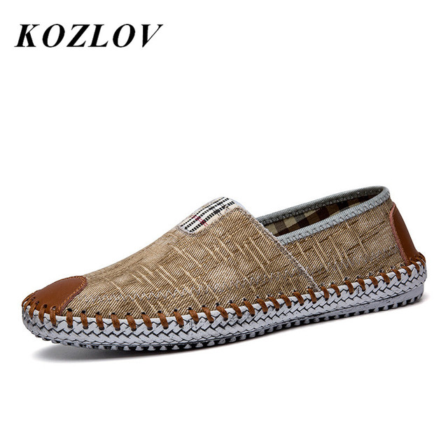 d7eae3fab KOZLOV Summer Canvas Shoes Men Fisherman Luxury Brand Designer Espadrilles  Flats Breathable Mens Denim Shoes Casual Plimsolls
